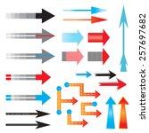 illustration of arrows  pointers | Shutterstock .eps vector #257697682