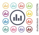 equalizer flat icons set. open...   Shutterstock .eps vector #257702596