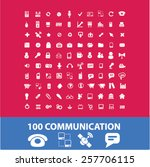 100 communication  connection... | Shutterstock .eps vector #257706115