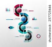 vector timeline infographic... | Shutterstock .eps vector #257725666