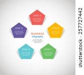 template for diagram  graph ... | Shutterstock .eps vector #257727442
