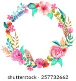 Flower Watercolor Wreath For...