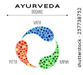 ayurveda vector illustration.... | Shutterstock .eps vector #257738752