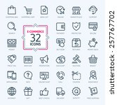 outline web icons set   e... | Shutterstock .eps vector #257767702