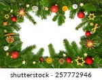 christmas time decoration on... | Shutterstock . vector #257772946