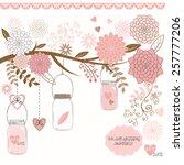 wedding jar | Shutterstock .eps vector #257777206