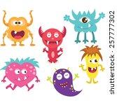 cute moster | Shutterstock .eps vector #257777302