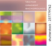 background set  of 12 abstract...   Shutterstock .eps vector #257779762