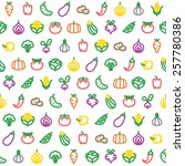 vector seamless pattern with... | Shutterstock .eps vector #257780386