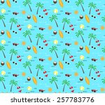 summer and travel seamless... | Shutterstock .eps vector #257783776