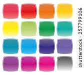 set of colored square buttons... | Shutterstock .eps vector #257799106