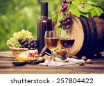 wine and cheese | Shutterstock . vector #257804422