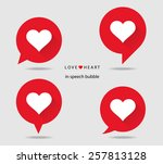 love heart in speech bubble... | Shutterstock .eps vector #257813128
