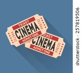 vector movie ticket vintage... | Shutterstock .eps vector #257819506