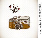 Vintage Card With Retro Camera...