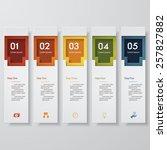 design clean number banners... | Shutterstock .eps vector #257827882