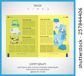layout magazine. editable... | Shutterstock .eps vector #257844406