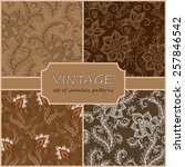 seamless vintage floral... | Shutterstock .eps vector #257846542