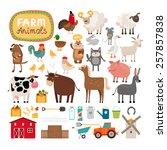Set Of Vector Farm Animals And...