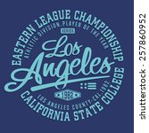 california athletic typography  ... | Shutterstock .eps vector #257860952