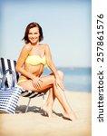 summer holidays and vacation  ... | Shutterstock . vector #257861576