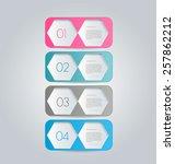 business infographics template... | Shutterstock .eps vector #257862212