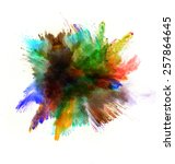 freeze motion of colored dust... | Shutterstock . vector #257864645