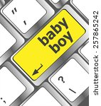 baby boy message on keyboard... | Shutterstock .eps vector #257865242