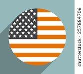 usa flag.vector illustration. | Shutterstock .eps vector #257884706