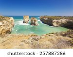 rock stacks in the twelve... | Shutterstock . vector #257887286