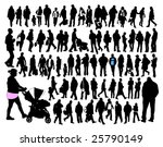 people  silhouette | Shutterstock .eps vector #25790149
