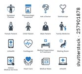 medical   health care icons set ... | Shutterstock .eps vector #257901878