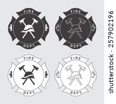 fire department logo with... | Shutterstock .eps vector #257902196