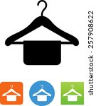 clothes hanger symbol for... | Shutterstock .eps vector #257908622
