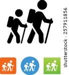 two people hiking icon | Shutterstock .eps vector #257911856