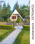 tropical forest resort ... | Shutterstock . vector #257926922