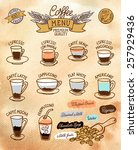 infographic with coffee types... | Shutterstock .eps vector #257929436