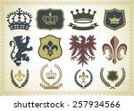 heraldry ornaments   vector... | Shutterstock .eps vector #257934566