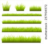 grass backgrounds   realistic... | Shutterstock .eps vector #257934572