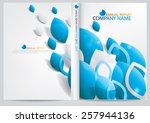 annual report cover design | Shutterstock .eps vector #257944136
