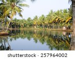 Small photo of River of the backwaters at Kollam on India