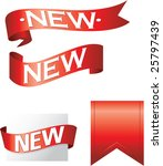 new flashes and banners in... | Shutterstock .eps vector #25797439