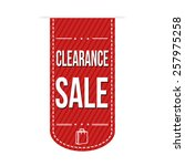clearance sale banner design... | Shutterstock .eps vector #257975258
