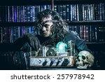 portrait of a man steampunk in... | Shutterstock . vector #257978942
