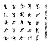 sports human icon set 4 | Shutterstock .eps vector #257983256