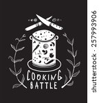 cooking battle sign and  label... | Shutterstock .eps vector #257993906