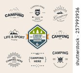 set of retro badges and label... | Shutterstock .eps vector #257993936