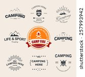 set of retro badges and label... | Shutterstock .eps vector #257993942