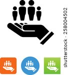 hand with family icon | Shutterstock .eps vector #258004502
