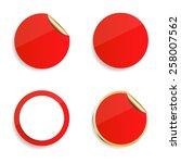vector blank stickers. | Shutterstock .eps vector #258007562